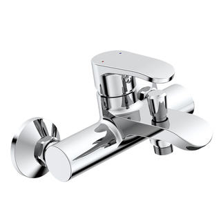 3172-10	brass faucet single lever hot/cold water wall-mounted bathtub mixer