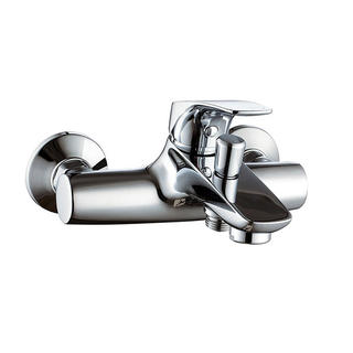 3168-10	brass faucet single lever hot/cold water wall-mounted bathtub mixer