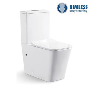 YS22251P	2-piece Rimless ceramic toilet, P-trap washdown toilet;