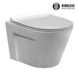 YS22267HR	Wall-hung ceramic toilet, Rimless Wall-mounted toilet, washdown;