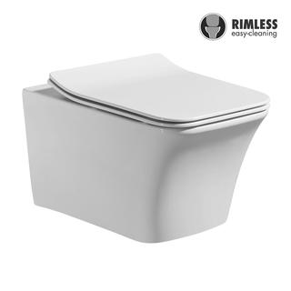 YS22276H	Wall-hung ceramic toilet, Rimless Wall-mounted toilet, washdown;