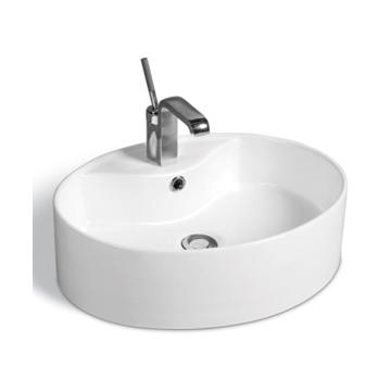 YS28202	Ceramic above counter basin, artistic basin, ceramic sink;