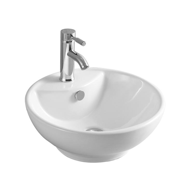 YS28209	Ceramic above counter basin, artistic basin, ceramic sink;