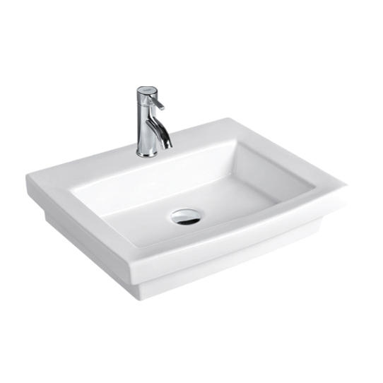 YS28215	Ceramic above counter basin, artistic basin, ceramic sink;