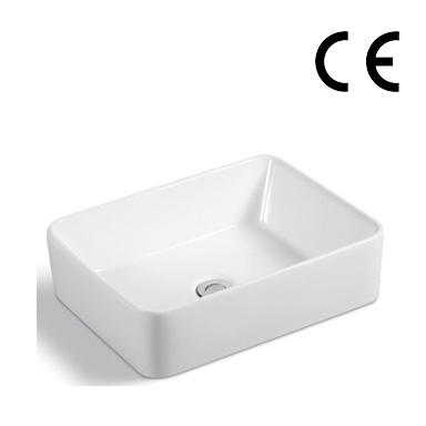YS28255	Ceramic above counter basin, artistic basin, ceramic sink;