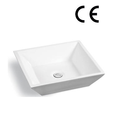 YS28261	Ceramic above counter basin, artistic basin, ceramic sink;