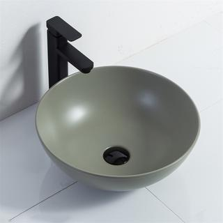 YS28401-MG	Ceramic above counter basin, artistic basin, ceramic sink;