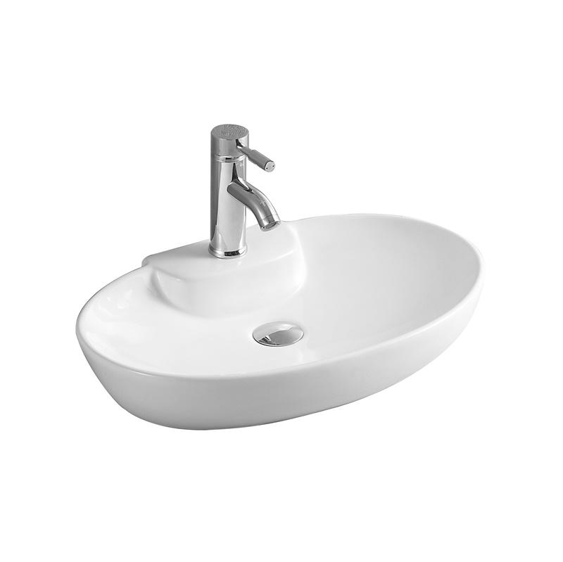 YS28418	Ceramic above counter basin, artistic basin, ceramic sink;