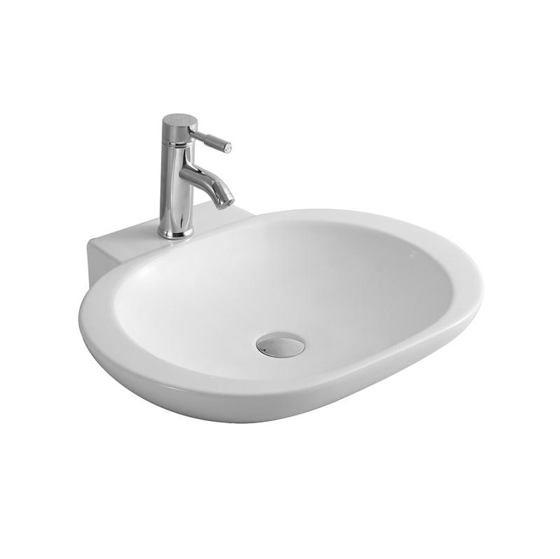 YS28419	Ceramic above counter basin, artistic basin, ceramic sink;