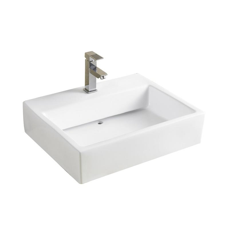 YS28421	Ceramic above counter basin, artistic basin, ceramic sink;