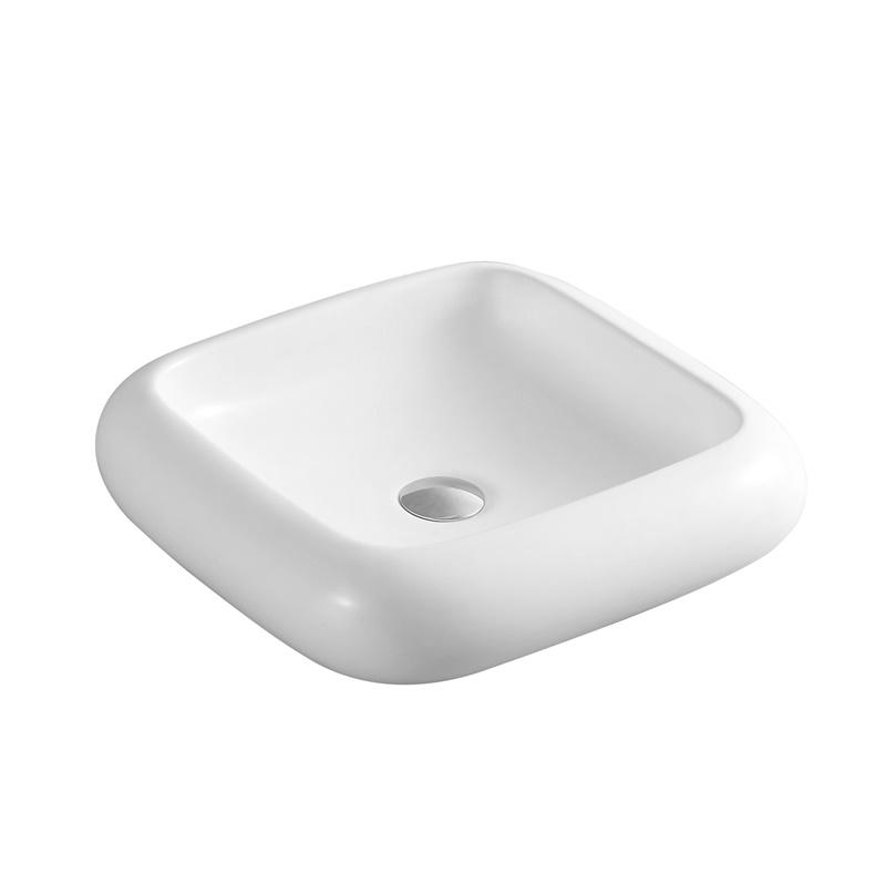 YS28424	Ceramic above counter basin, artistic basin, ceramic sink;