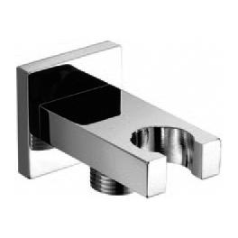 YS352A	Square brass water inlet, wall shower connector;